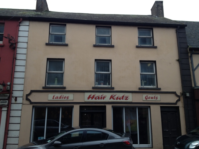 'Hair Kutz' on Church Street, Cloyne, where the RIC Barracks was located in 1920