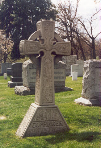 The grave of General John Joseph Coppinger in Arlington National Cemetery (Brian C. Pohanka via Find A Grave)