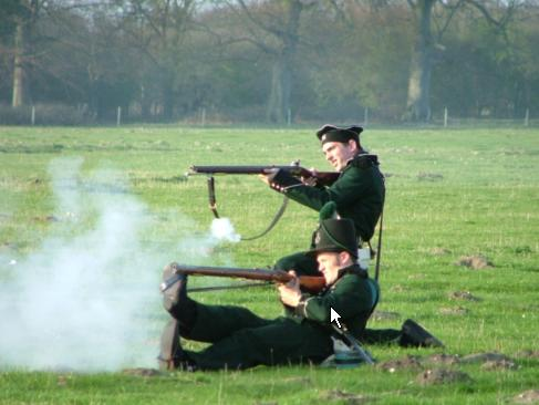Reenactors of the 95th Rifles from the Napoleonic Era (Wikipedia)