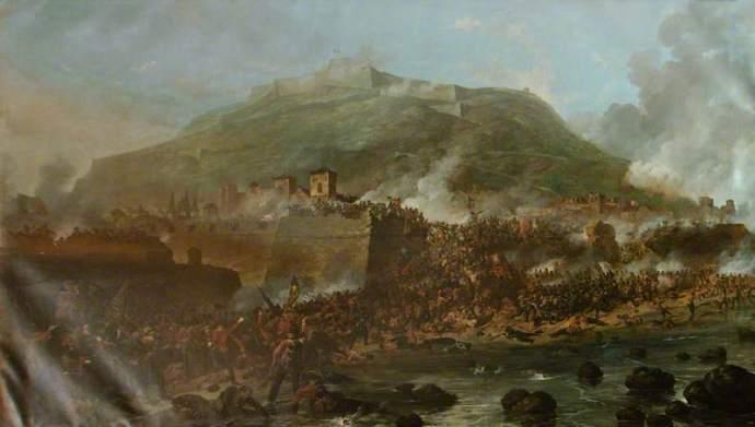 The Storming of San Sebastian on the Peninsula (Wikipedia)