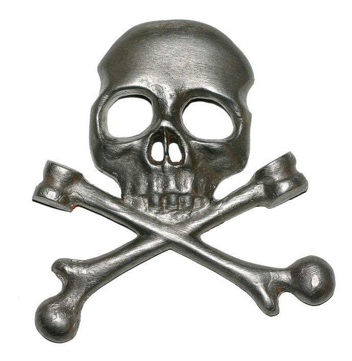 The Totenkopf badge of the Brunswickers (Wikipedia)