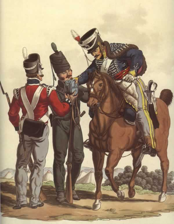Members of the King's German Legion, who were in Midleton in 1806, by Charles Hamilton Smith
