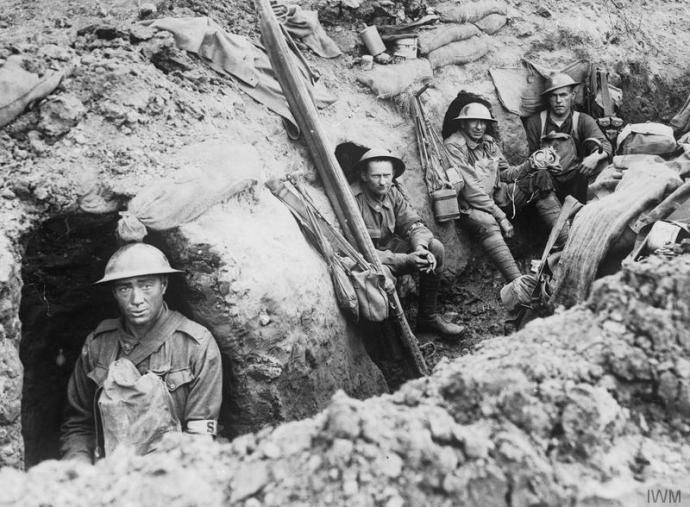 Members of the 13th Australian Field Ambulance at Passchendaele © IWM (E(AUS) 839)