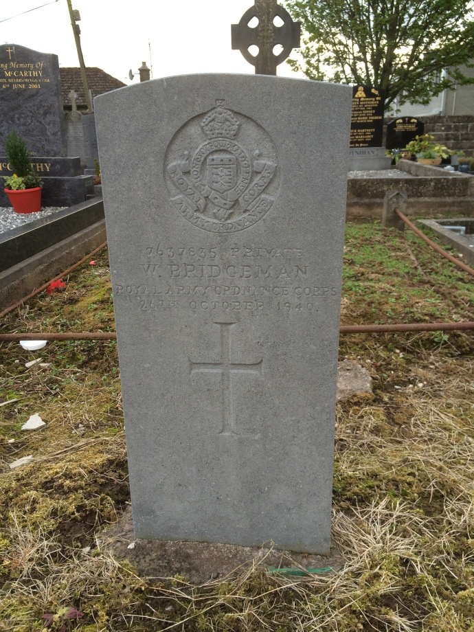 Private William Bridgeman, Royal Army Ordnance Corps