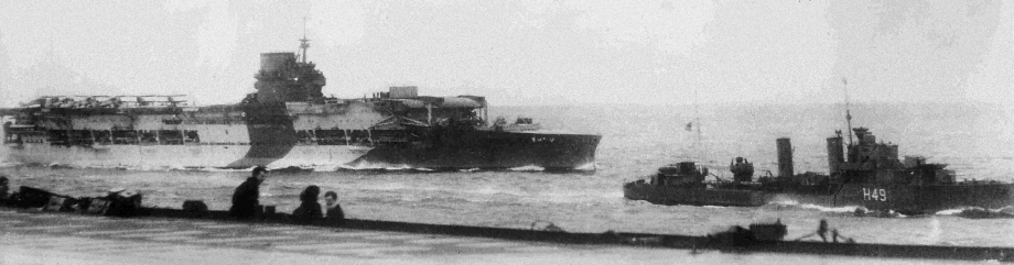 HMS Glorious in May 1940 (U.S. Naval Historical Center)
