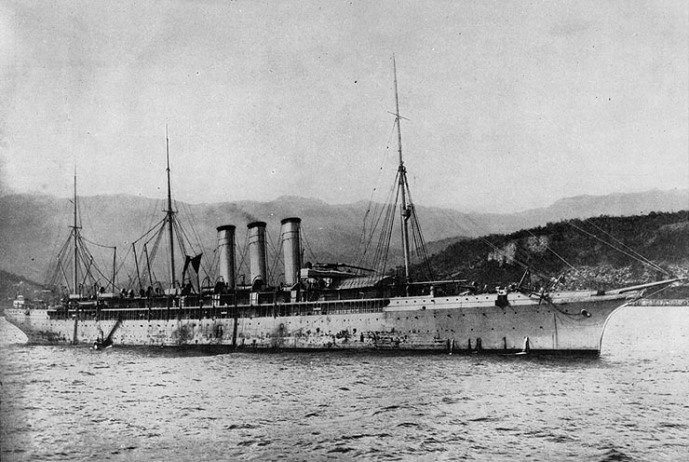 "The ""Philadelphia"", another of the ships on which Midleton emigrants returned (US Navy Research Center)"