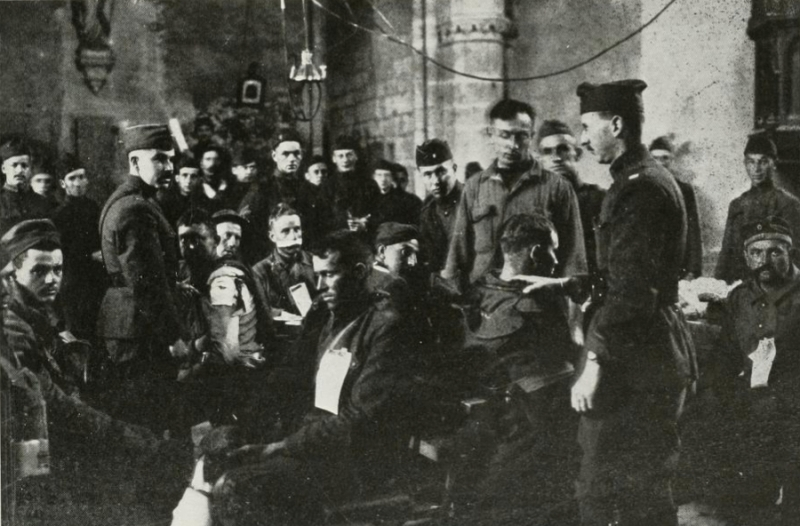 77th Division Dressing Station in a Church in La Chalade, October 1918