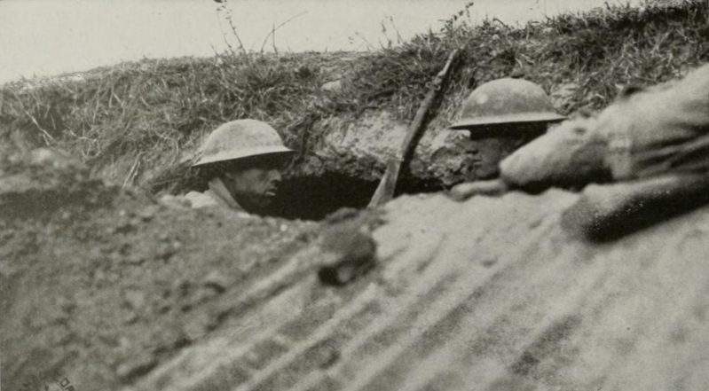 Men of the 77th Division on the front line, 1918 (History of the Seventy Seventh Division)