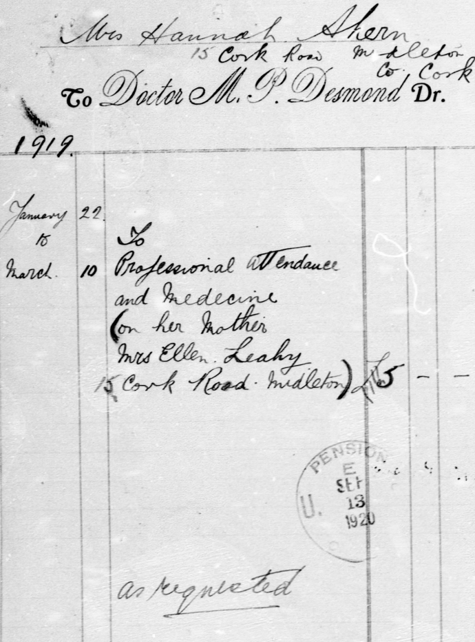 Doctor Desmond Receipt