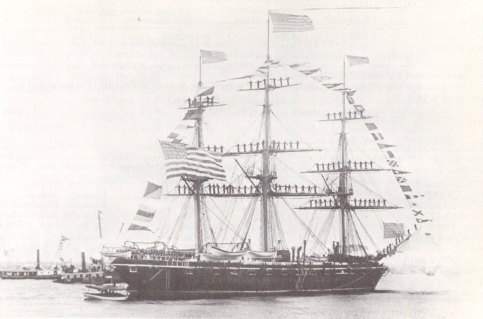USS Brooklyn, on which Midleton's John Bransfield served (United States Navy)